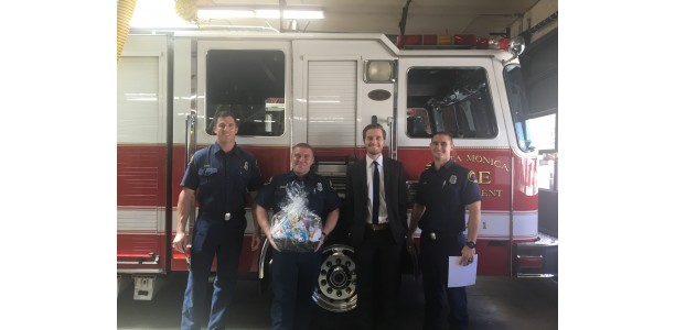Fireside Health Care Center Thanks Local Santa Monica Fire Department
